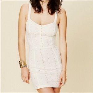 Free People Intimately Bodycon White Eyelet Dress